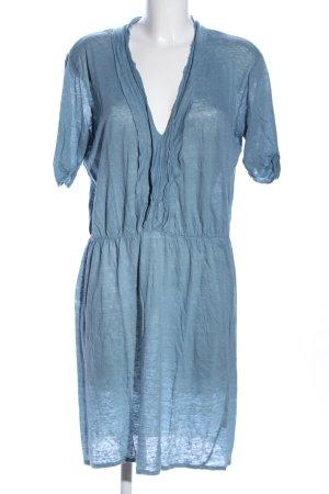 Closed Vestido estilo camisa azul look casual
