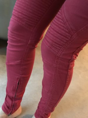 Closed Biker Jeans neon red