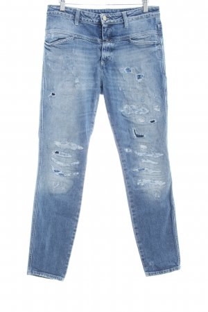 Closed Skinny Jeans himmelblau-kornblumenblau Destroy-Optik