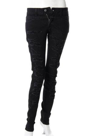 Closed Skinny Jeans schwarz Destroyed-Optik