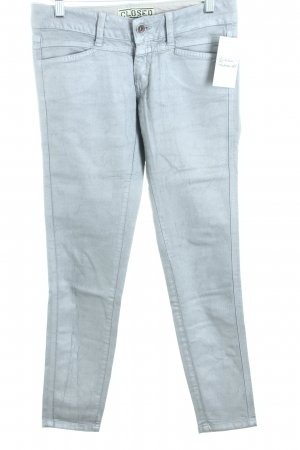 Closed Skinny Jeans silberfarben Casual-Look