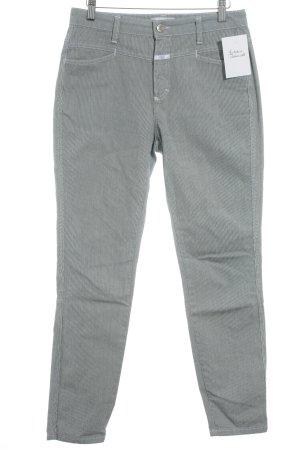 Closed Skinny Jeans stahlblau-wollweiß Streifenmuster Casual-Look