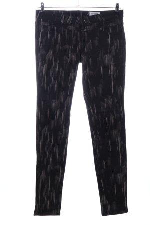 Closed Slim Jeans schwarz abstraktes Muster Casual-Look