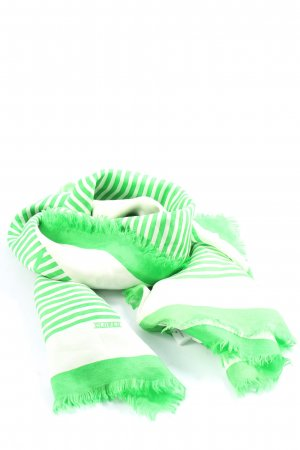Closed Chal veraniego blanco-verde estampado a rayas look casual