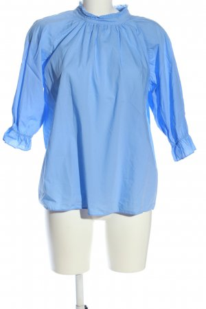 Closed Blusa con collo alla coreana blu stile professionale