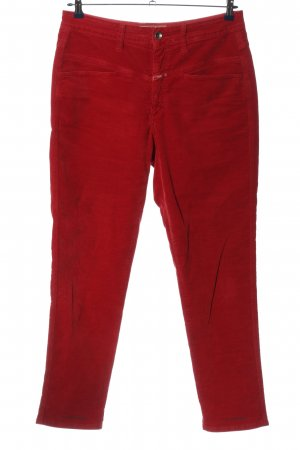 Closed Stoffhose rot Casual-Look
