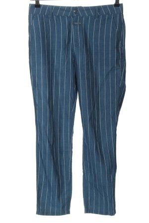 Closed Pantalon en jersey bleu-blanc motif rayé style décontracté