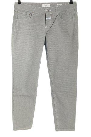 Closed Pantalon en jersey gris clair-blanc motif rayé style décontracté