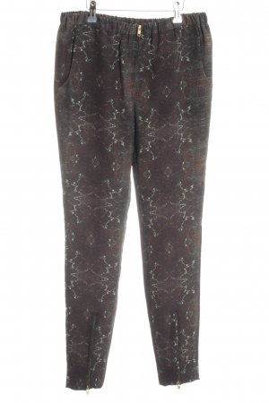 Closed Stoffhose wollweiß-braun abstraktes Muster Casual-Look