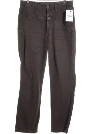 Closed Spodnie materiałowe brązowy Prosty styl