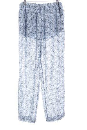 Closed Stoffhose himmelblau-dunkelblau abstraktes Muster Casual-Look