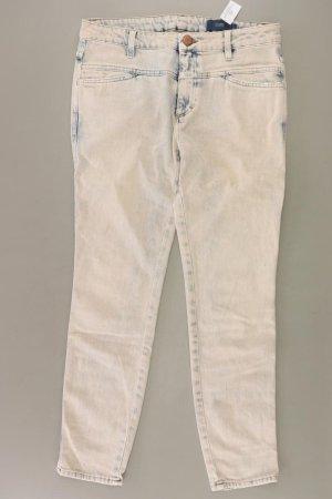 Closed Jeansy z prostymi nogawkami w kolorze białej wełny Bawełna