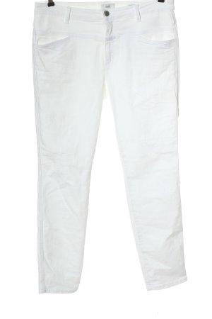 Closed Jeansy z prostymi nogawkami biały W stylu casual