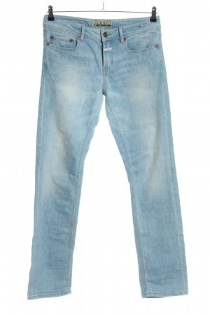 Closed Jeans coupe-droite bleu style décontracté
