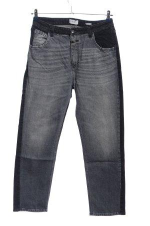 Closed Straight-Leg Jeans hellgrau-schwarz Casual-Look