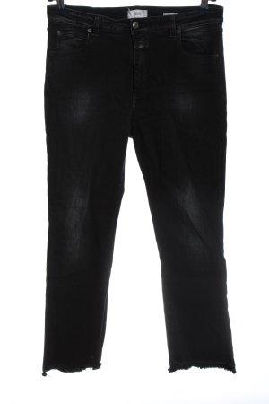 Closed Jeans coupe-droite noir style décontracté