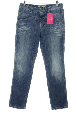 Closed Straight-Leg Jeans stahlblau Used-Optik