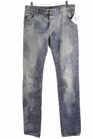Closed Straight-Leg Jeans weiß-kornblumenblau meliert Logo-Applikation