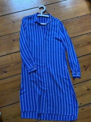 Closed Streifenkleid Kaftan gestreift Seidenkleid Blau S