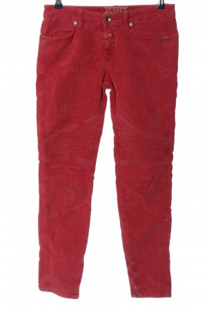 Closed Stretchhose rot Casual-Look