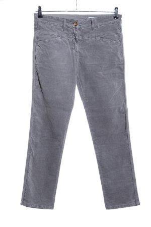 Closed Stretch broek lichtgrijs gestippeld casual uitstraling