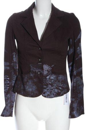 Closed Gebreide blazer bruin-lila abstract patroon elegant