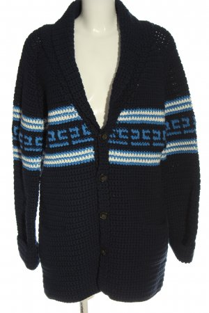Closed Strickjacke blau-weiß Streifenmuster Casual-Look