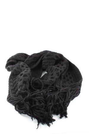 Closed Écharpe en tricot noir style décontracté