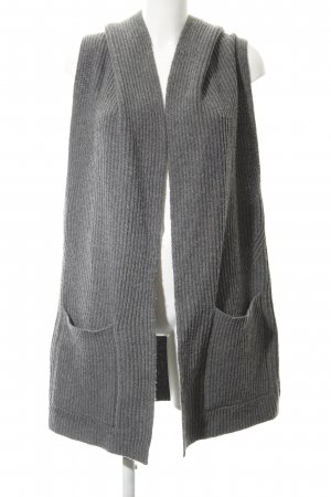 Closed Knitted Vest grey casual look