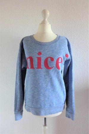 "Closed Sweater Sweatshirt ""nice"" blau rot Gr. XS S 34 36"