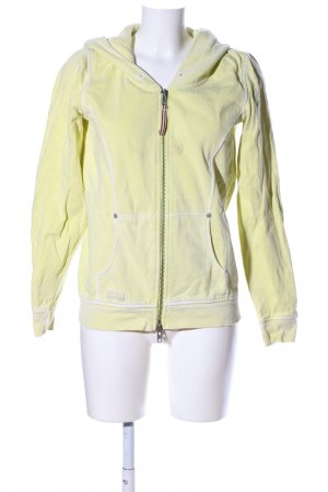 Closed Sweatjacke blassgelb Casual-Look