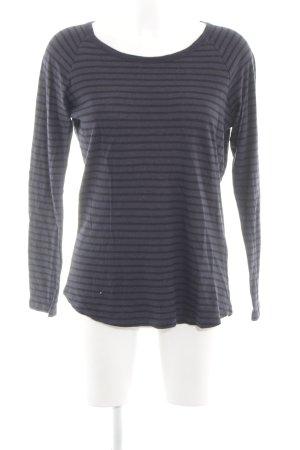 Closed Sweatshirt bleu-noir imprimé allover style d'affaires