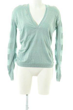 Closed Sweatshirt grün Streifenmuster schlichter Stil
