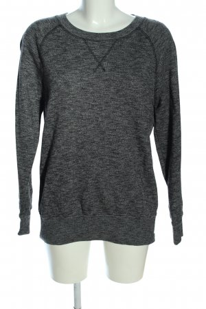 Closed Sweatshirt hellgrau-schwarz meliert Casual-Look