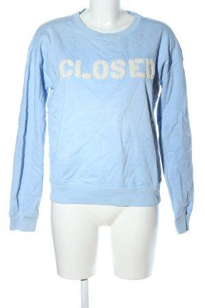 Closed Sweatshirt blau-creme Schriftzug gedruckt Casual-Look