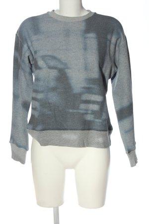 Closed Sweatshirt hellgrau-blau meliert Casual-Look