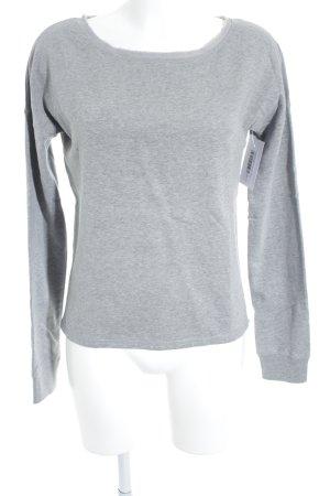 Closed Sweatshirt hellgrau meliert sportlicher Stil