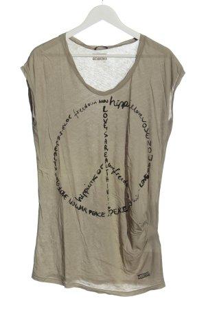 Closed T-Shirt wollweiß Schriftzug gedruckt Casual-Look