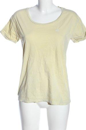 Closed T-Shirt blassgelb Schriftzug gestickt Casual-Look