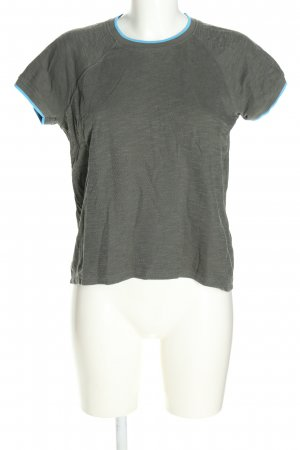 Closed T-Shirt hellgrau-blau meliert Casual-Look