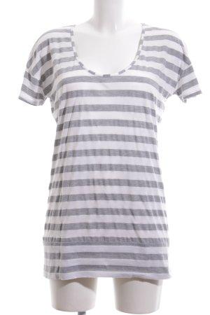 Closed T-Shirt hellgrau-weiß Streifenmuster Casual-Look
