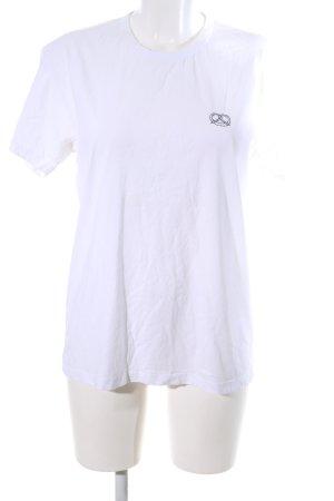Closed T-Shirt weiß Schriftzug gestickt Casual-Look