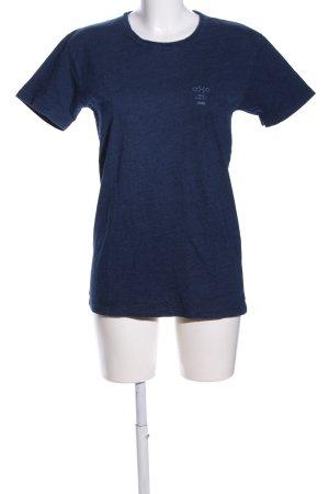 Closed T-Shirt blau meliert Casual-Look