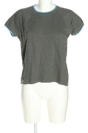 Closed T-Shirt hellgrau-blau meliert Casual-Look