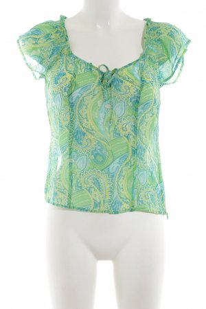Closed Transparenz-Bluse abstraktes Muster Casual-Look