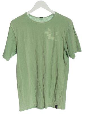 Closed T-Shirt grün Schriftzug gedruckt Casual-Look