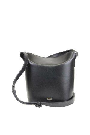 Closed Umhängetasche in Schwarz aus Leder
