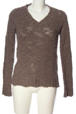 Closed V-Ausschnitt-Pullover bronzefarben Casual-Look
