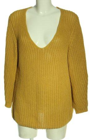 Closed Sweter z dekoltem w kształcie litery V bladożółty W stylu casual