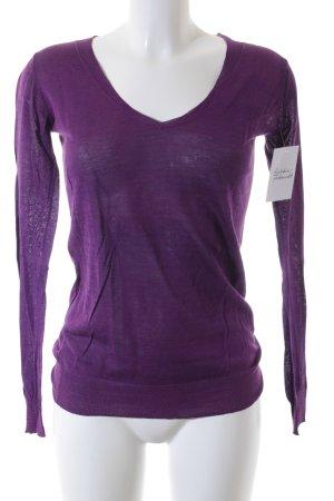 Closed V-Ausschnitt-Pullover lila Casual-Look